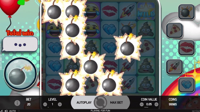 Emoji Planet slot bar meters bonus game