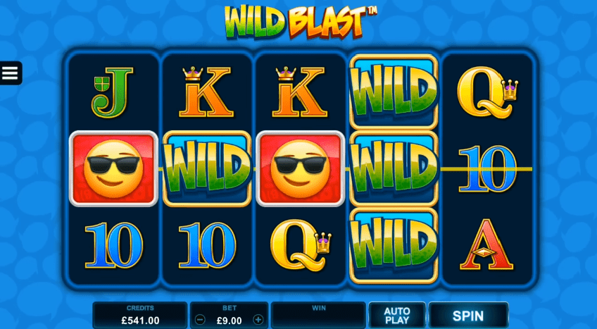 EmotiCoins Slot Wild Blast random Feature