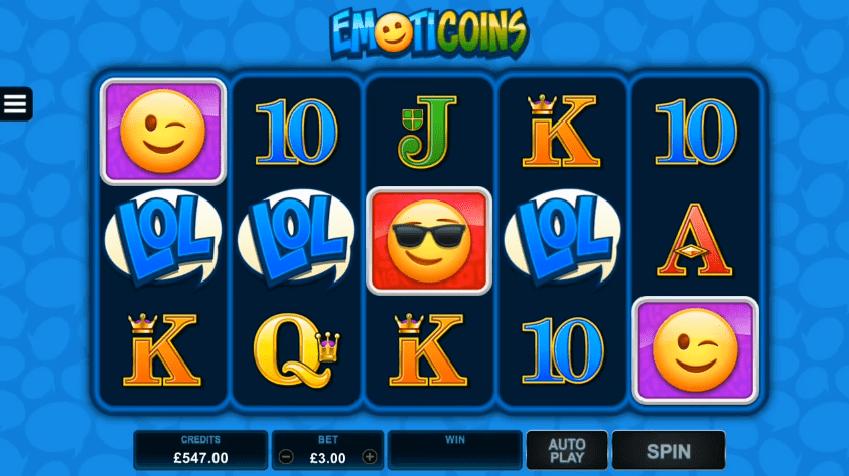 EmotiCoins online slot symbols base game