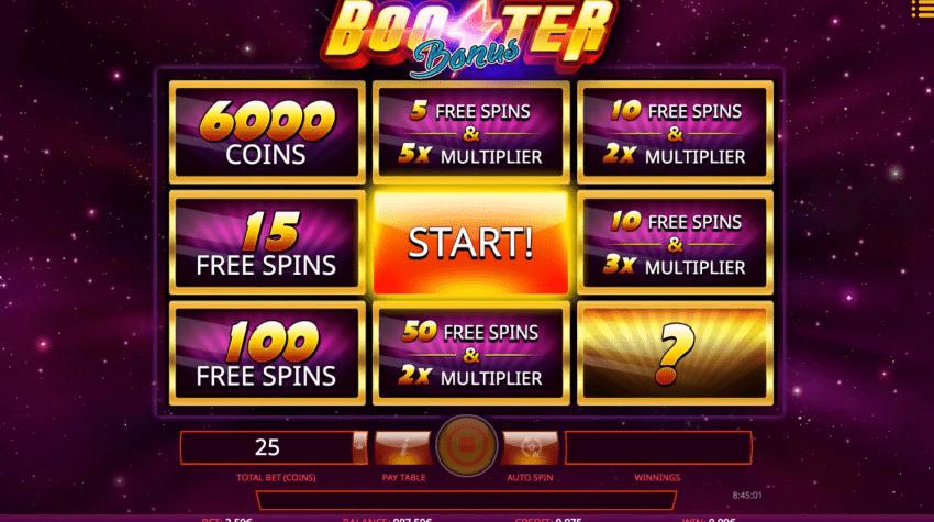 Booster slot bonus features