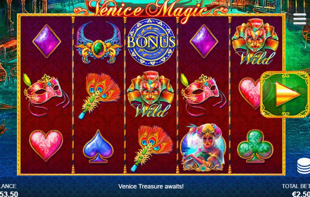 Venice Magic symbols scatter joker wild