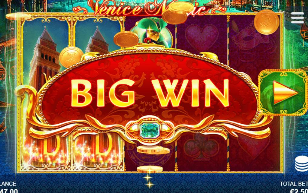 Venice Magic video slot big win