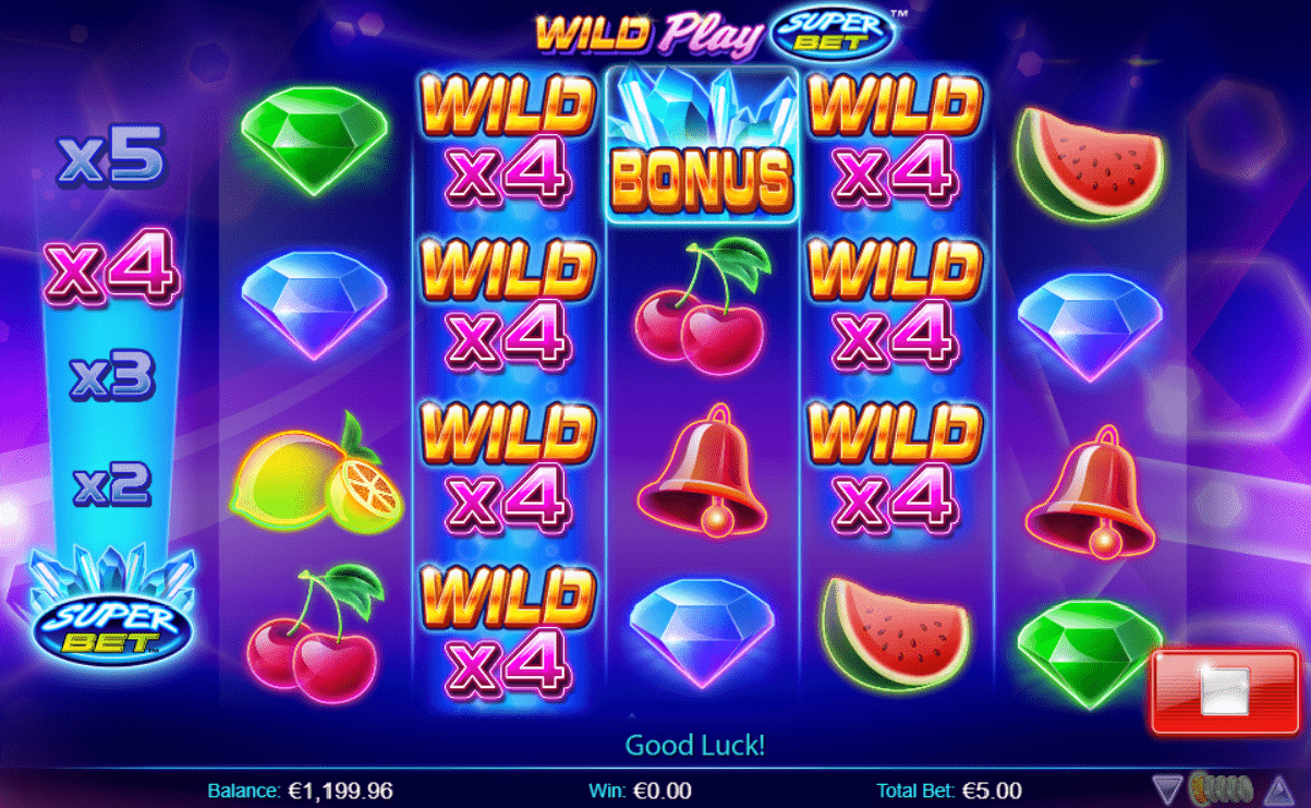 Wild Play SuperBet video slot online play