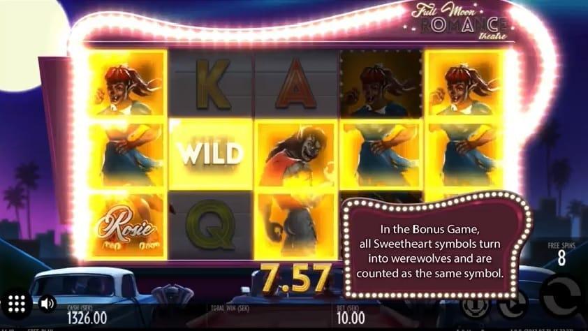 Full Moon Romance slot free spins bonus