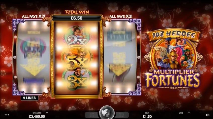 108 Heroes Multiplier Fortunes slot big win casino
