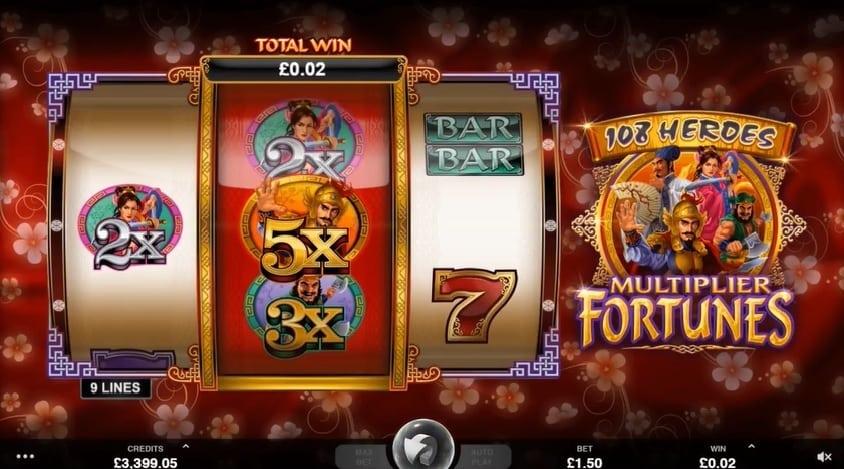 108 Heroes Multiplier Fortunes online slot play