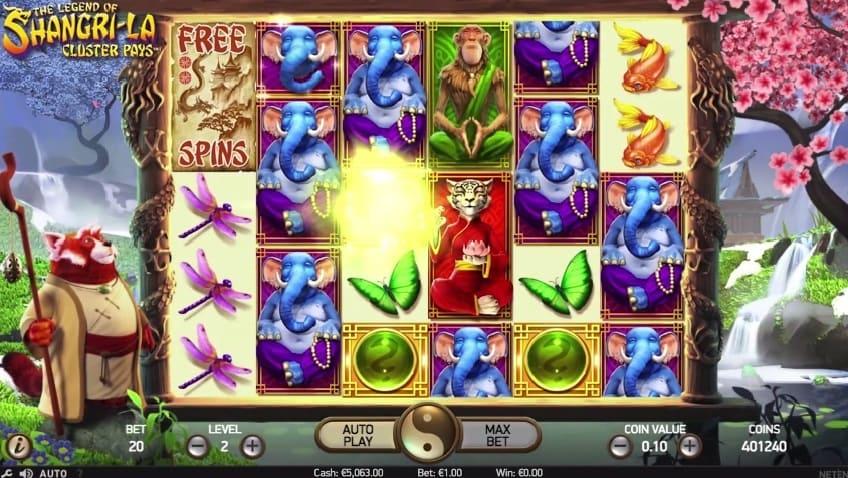 The Legend of Shangri-La slot feature nudge