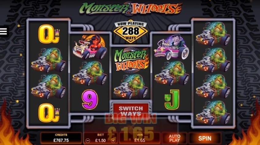 Monster Wheels slot free spins bonus