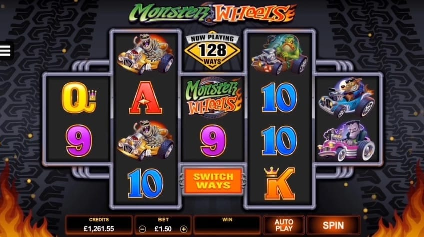 Monster Wheels slot changing pay-lines