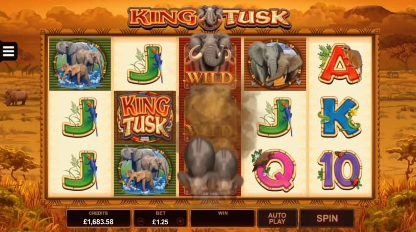 King Tusk Slot wild feature expanding