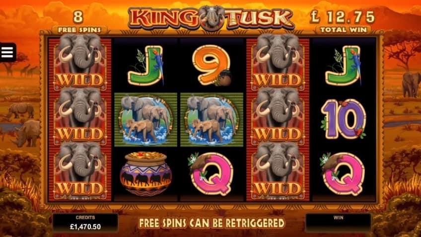 King Tusk Slot bonus free spins