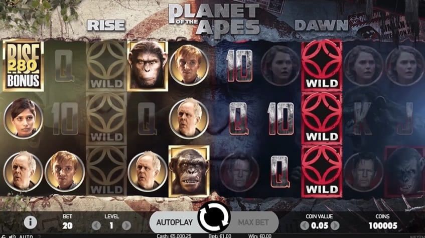 Planet of the Apes Slot symbols