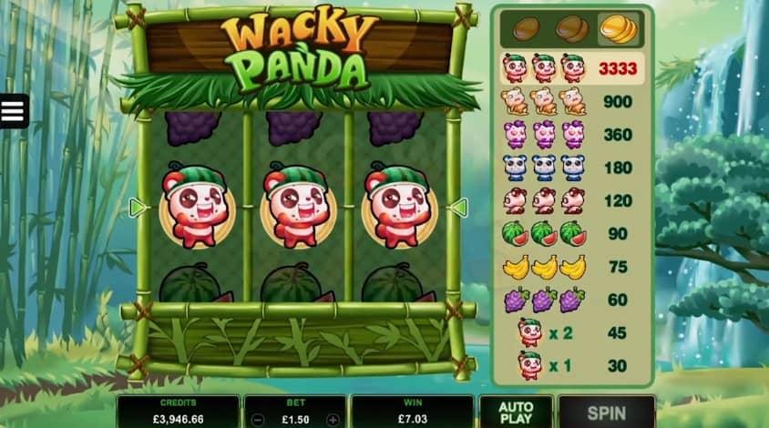 Wacky Panda video slot game