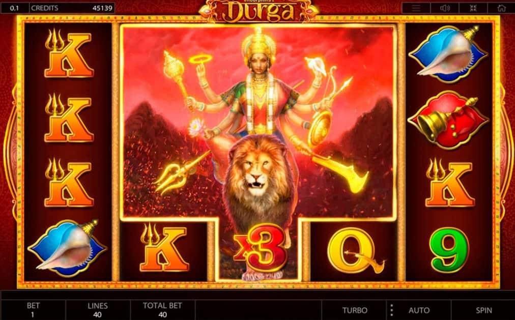 Durga video slot wild feature