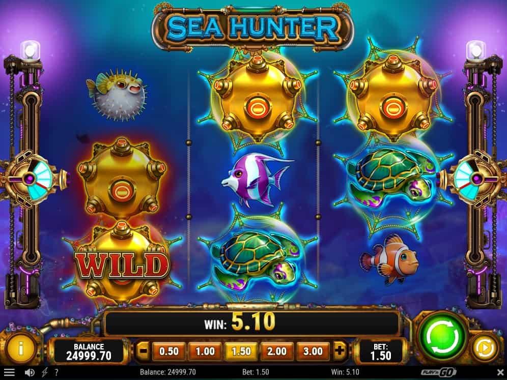 Sea Hunter cannon feature bonus