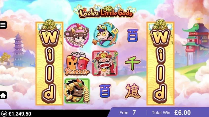Lucky Little Gods slot free spins wild reels