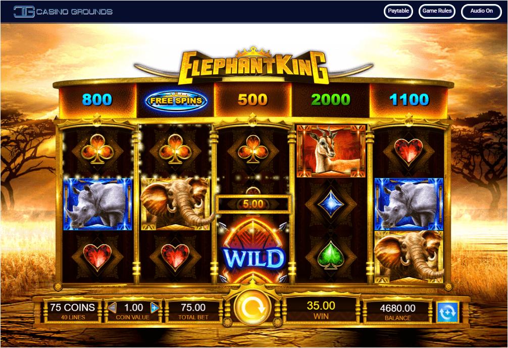 IGT - Elephant King - Spin -Casinogroundsdotcom