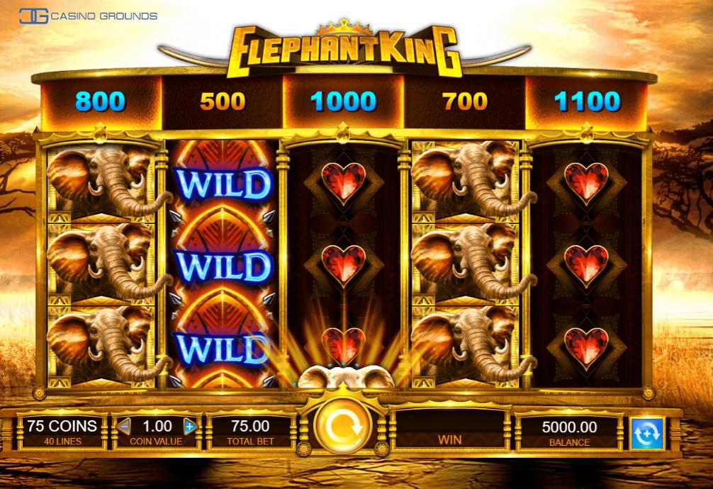 IGT - Elephant King - Wilds filled-Casinogroundsdotcom