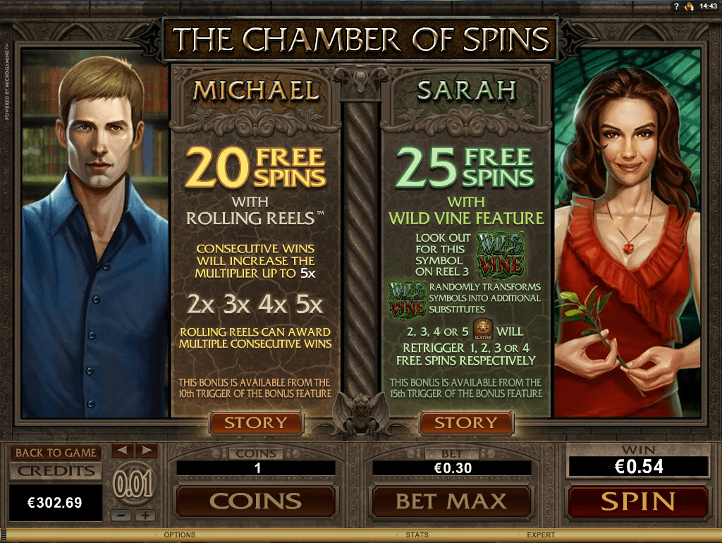 Microgaming - Immortal Romance - Rules Chamber of Spins 2 - casinogroundsdotcom