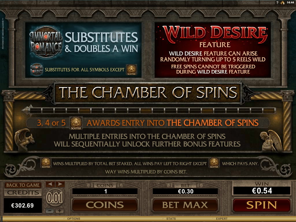 Chamber of Spins in Immortal Romance