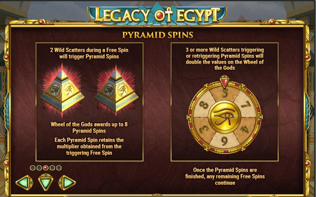 Legacy of Egypt- Play'n'Go - pyramid spins