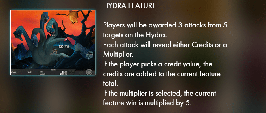 Jasons quest - hydra feature - casinogroundsdotcom