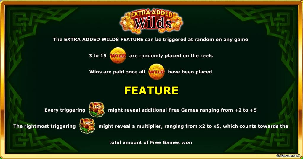 Novomatic - Viking & Dragon - Rules - Extra added wilds - casinogroundsdotcom