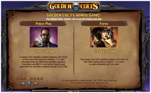 Microgaming - Golden Colts - rules poker - furies casinogroundsdotcom