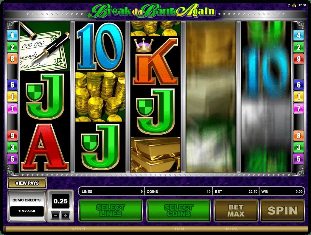Microgaming - Break Da Bank Again -Spin - Casinogroundsdotcom