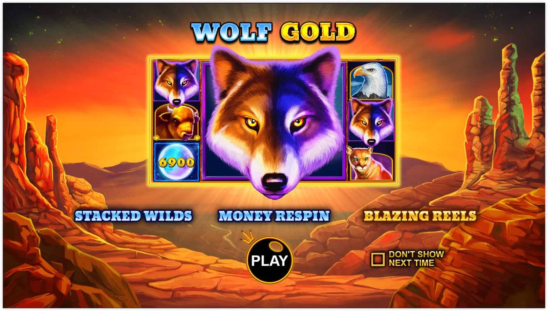 pragmatic play - wolf gold - rules - blazing reels - casinogroundsdotcom
