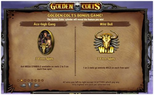 Microgaming - Golden Colts - rules ace high - wild bull casinogroundsdotcom