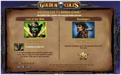 Microgaming - Golden Colts - rules wild law - gunslinger casinogroundsdotcom