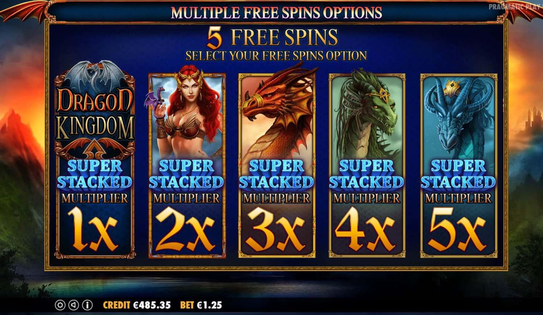 pragmatic play - dragon kingdom - bonus picker - casinogroundsdotcom