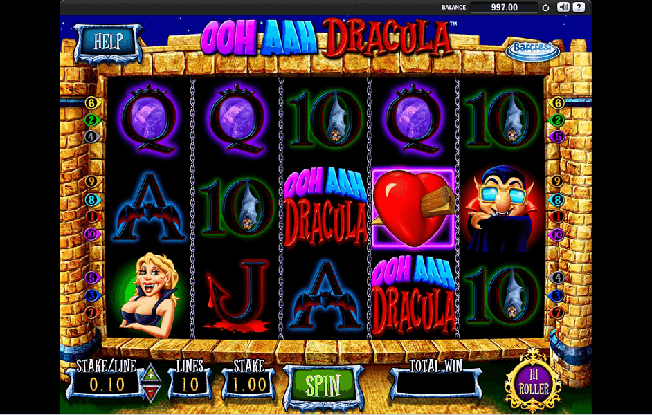 Barcrest - Ooh Aah Dracula - game play - casinogroundsdotcom
