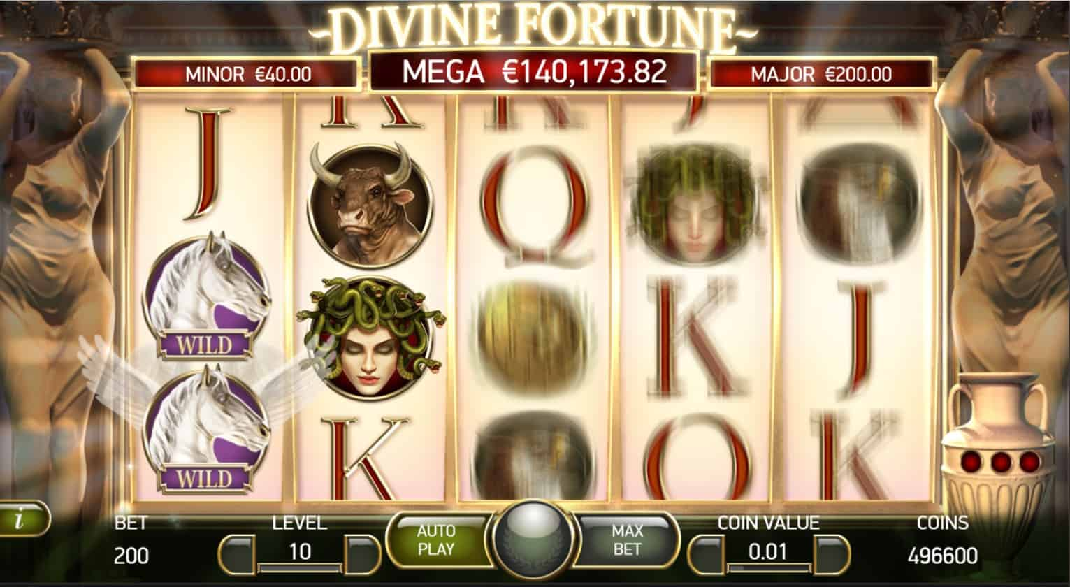 netent - divine fortune - falling wild feature-casinogroundsdotcom