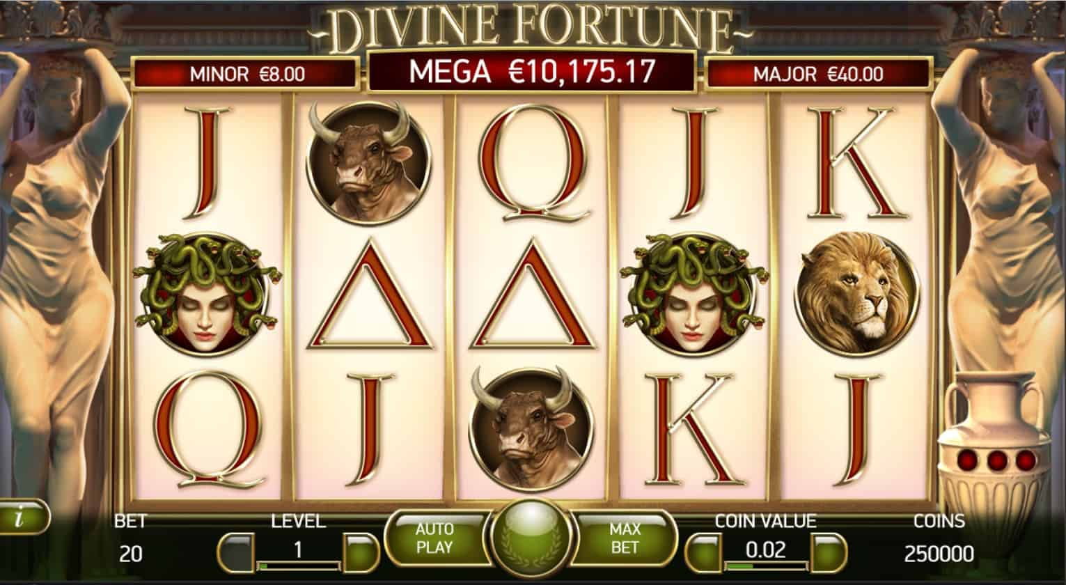 netent - divine fortune - game play - casinogroundsdotcom