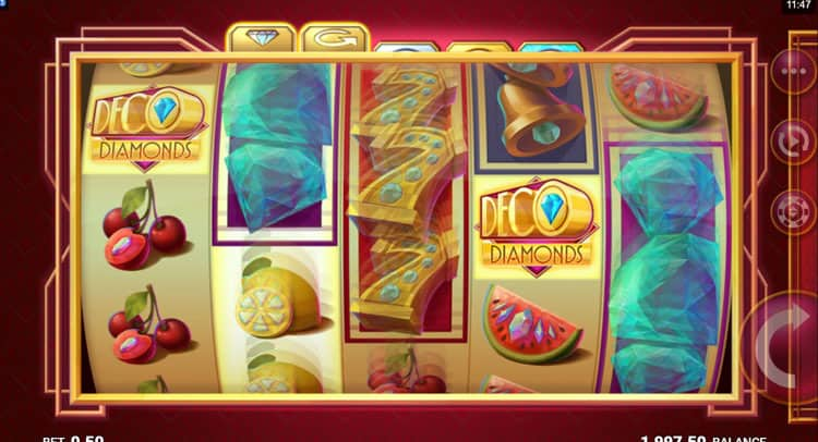 jftw- deco diamonds - respin - casinogroundsdotcom