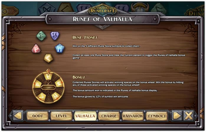 play'n go - viking runecraft - Rules - Rune stones , Bonus - casinogroundsdotcom