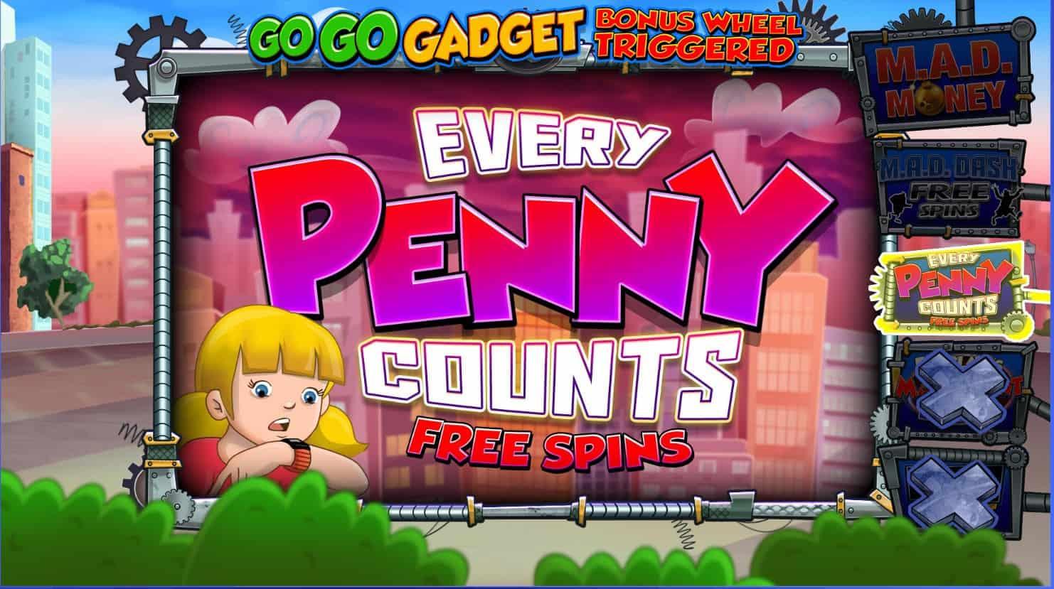 Blue print - inspector gadget - every penny counts free spins - casinogroundsdotcom