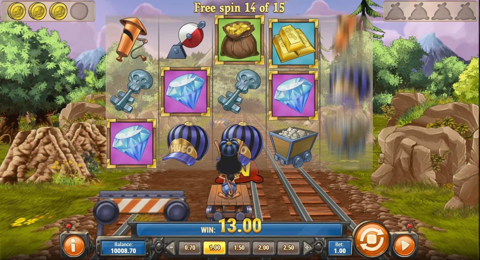 play'n go - hugo 2 - free spins - casinogroundsdotcom