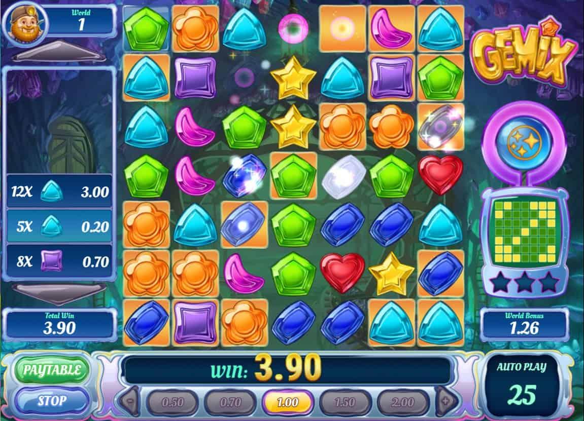 play'n go - gemix -crystal warp - casinogroundsdotcom