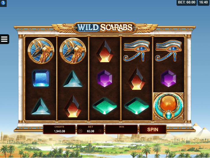 microgaming - wild scarab - reels - casinogroundsdotcom