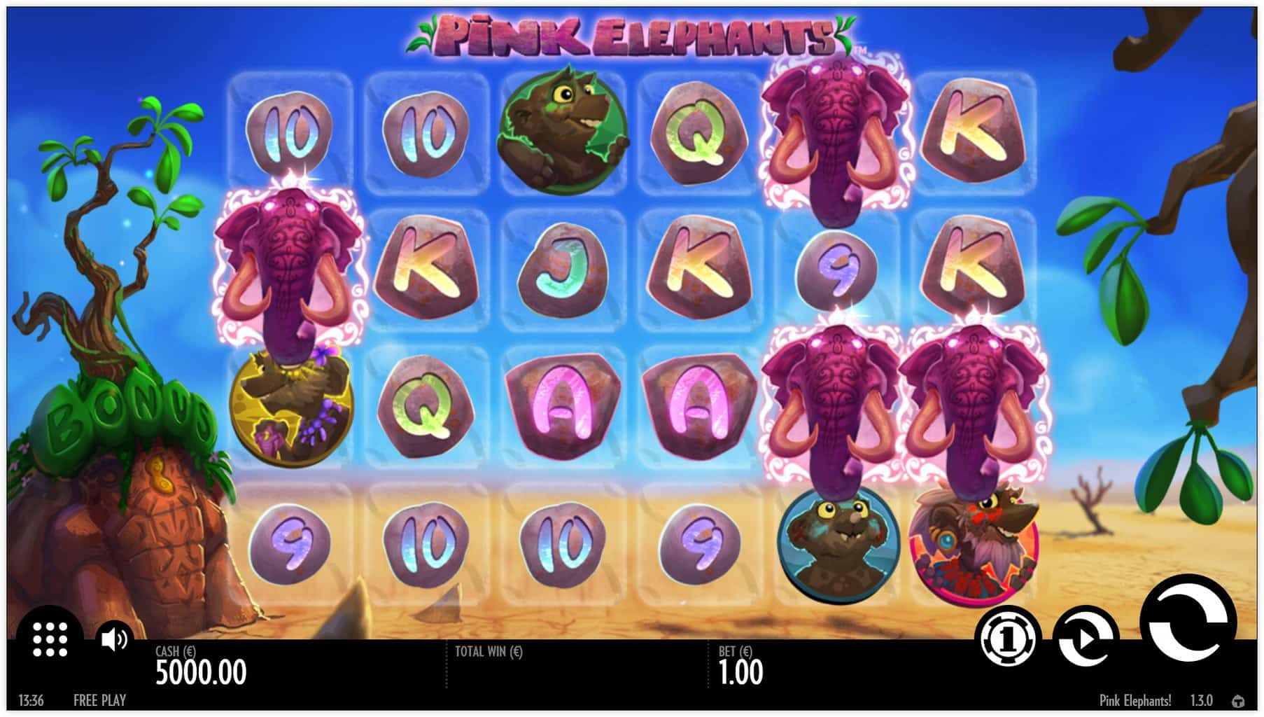 Thunderkick - Pink Elephants - Reels - Casinogroundsdotcom