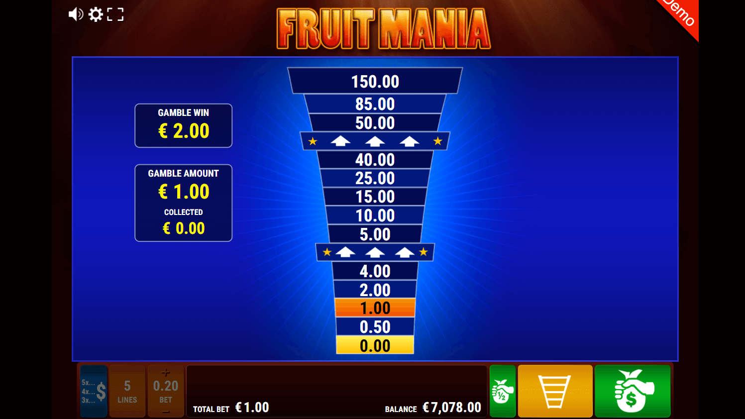 gamomat - fruit mania - gamble ladder- casinogroundsdotcom