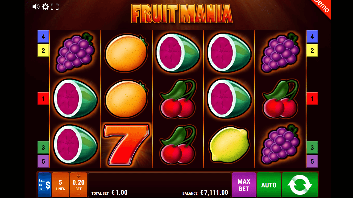 gamomat - fruit mania - reels - casinogroundsdotcom