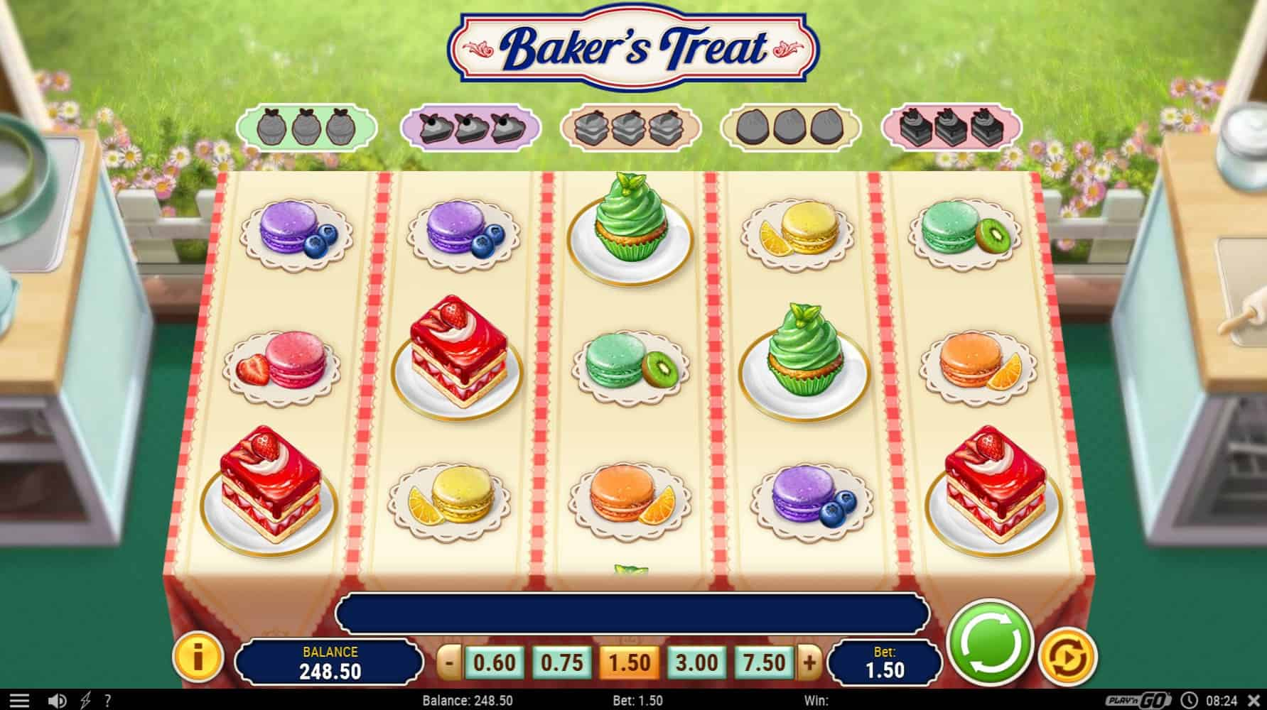 play'n go - baker's treat - reels - casinogroundsdotcom