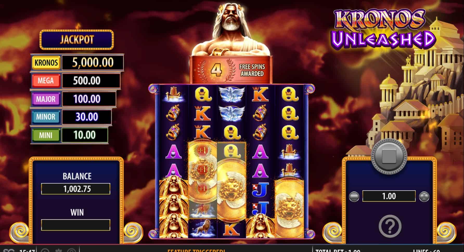 sginteractive-kronosunleashed-free spins-casinogroundsdotcom