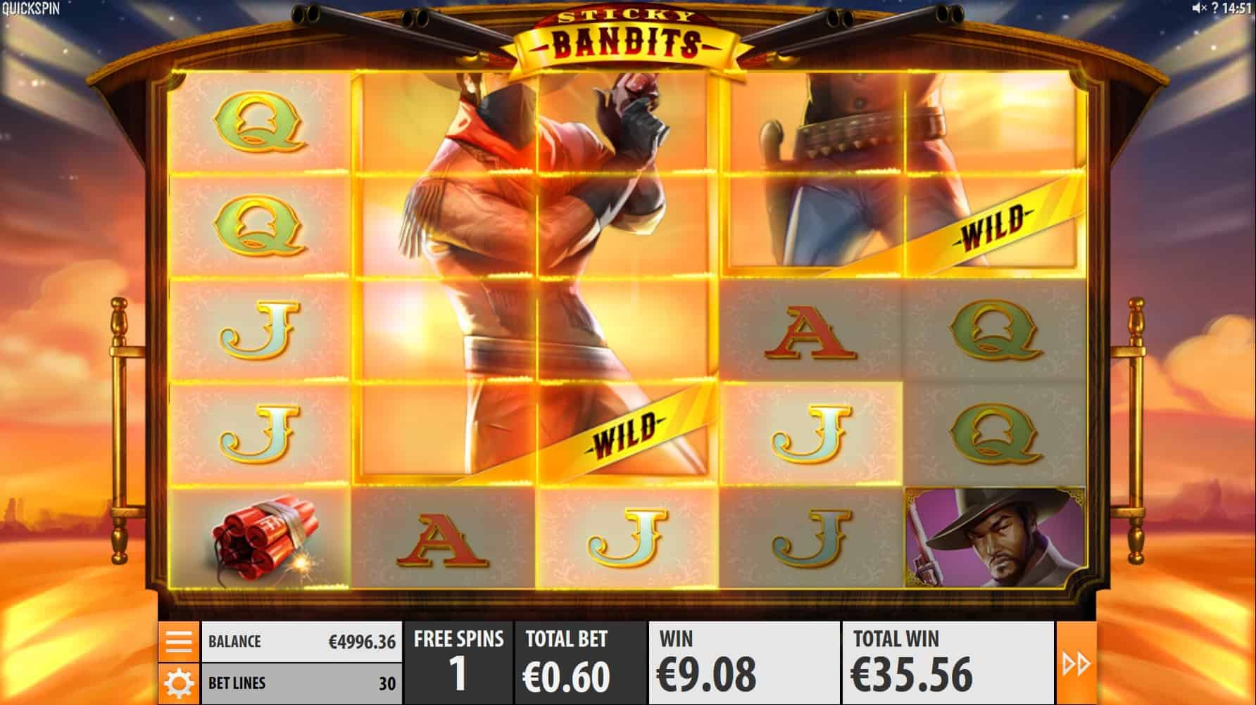 quickspin - sticky bandits - massive wilds - casinogroundsdotcom