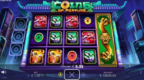 nolimit city - coins of fortune - full nudge wild - casinogroundsdotcom