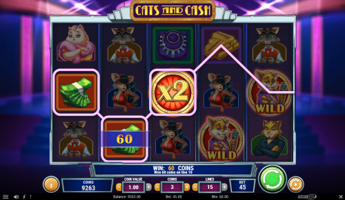 Play'N Go - Cats and Cash - Reels - Wild multiplier - casinogroundsdotcom